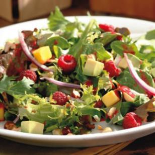 Raspberry Avocado Mango Salad Recipe