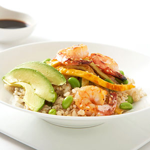 Shrimp and Avocado Rice Bowl Recipe