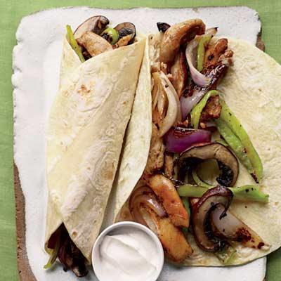 Chicken & Portobello Fajitas Recipe