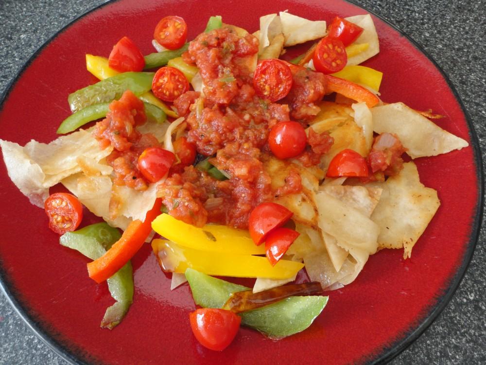 tortilla peppers salsa