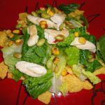Chicken Caesar Edamame Salad with Whale Tails Chips