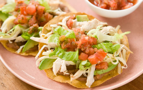 Quick Chicken Tostadas Recipe