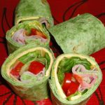 Spicy Spinach Ham Veggie Roll
