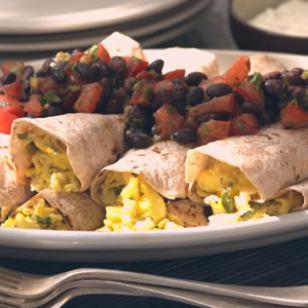 scrambled egg burritos