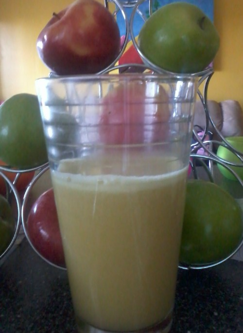 apple peach ginger juice